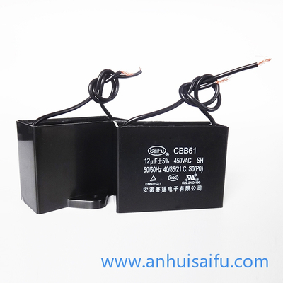 CBB61 Fan Capacitors 10uf, 12uf 450VAC