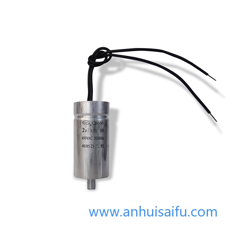 CBB60 motor run capacitors Aluminum shell