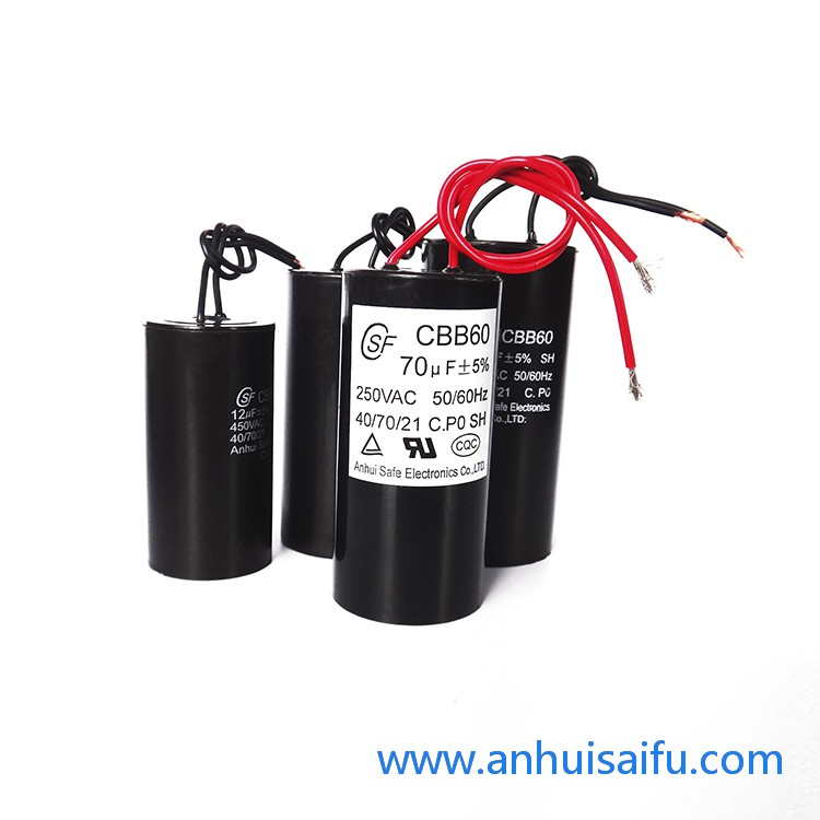 CBB60 motor run capacitors 60uf 70uf