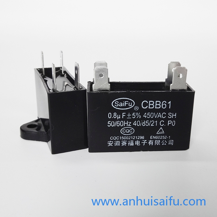 CBB61 Fan capacitors 0.8uf, 1uf