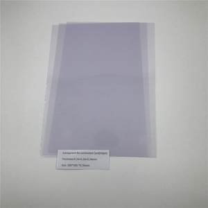 Transparent PVC No-Laminated Card(Inkjet)