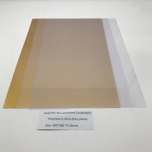 Gold PVC No-Laminated Card(Inkjet)